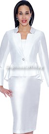 Clearance Aliyas Elegance AE5010 White - Womens Church Suits