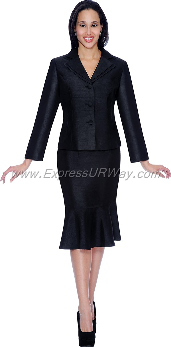 aliyas elegance ae5050 black womens church suits