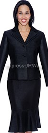 Clearance Aliyas Elegance AE5050 Black - Womens Church Suits