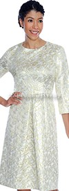 Clearance Aliyas Elegance AE5085 Light Gold - Womens Church Suits