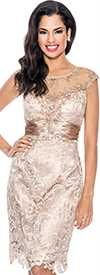 Annabelle 8517-Champagne Evening Dress