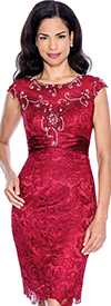 Annabelle 8517-Cranberry Evening Dress