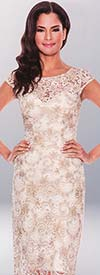Annabelle 8534 Dress With Embroidered Lace Design