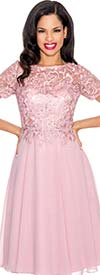 Annabelle 8557 Pleated Illusion Dress With Lace Design
