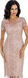 Annabelle 8632 Lace Dress With Illusion Neckline