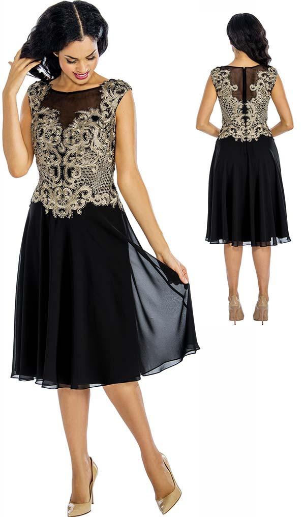 Annabelle 8633 Sleeveless Pleated Tulle Dress With Lace Applique
