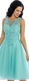 Annabelle 8638 Sleeveless Tulle Dress With Lace Applique Bodice