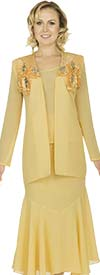 Aussie Austine 657 Ladies Georgette Three Piece Skirt Suit