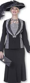 Aussie Austine 4805 Womens Suit With Pleated Skirt & Shawl Lapel Jacket