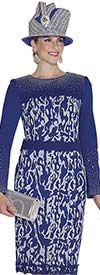 Aussie Austine 4962 Exclusive Knit Dress With Abstract Print Design