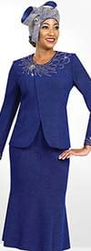 Ben Marc Blowout 47957 Flared Knit Skirt Suit With Embellished Jacket