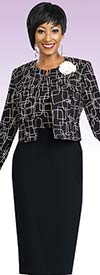 Clearance Ben Marc Executive 11459 Womens Black Business Dress & Jacket
