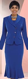 Ben Marc Executive 11581 Womens Pleated Skirt Suit With Shawl Lapel