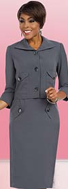 Clearance Ben Marc Executive 11591 Wing Collar Dress Suit For Women