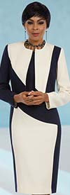 Ben Marc Executive 11593 Womens Two Piece Dress Suit With Color Block Design