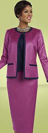 Ben Marc Executive 11604 Three Piece Womens Skirt Suit With Textured Look