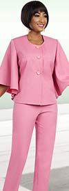 Ben Marc Executive 11610 Pant Suit For Women With Butterfly Sleeves