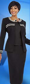 Ben Marc Executive 11624 Ladies Skirt Suit With Dual Trimmed Jacket