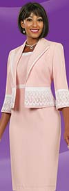 Clearance Ben Marc Executive 11523 Two Piece Dress Set With Lace Adornment