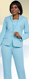 Ben Marc Executive 11646 Womens Business Pant Suit With Shawl Lapel