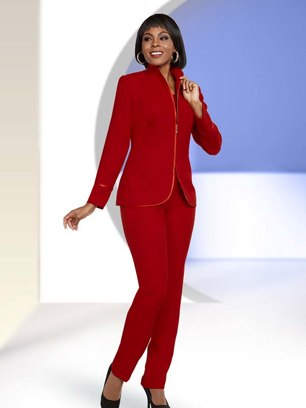 Ben Marc Executive 11651 Womens Career Pant Suit With Swan Necline Jacket