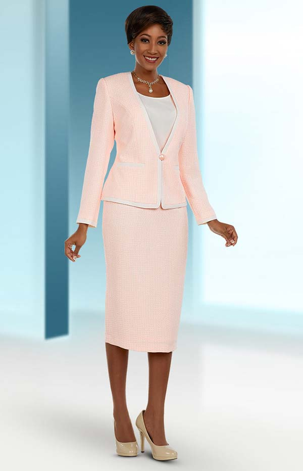 Ben Marc Executive 11660 Skirt Suit With Contrasting Trimmed Jacket