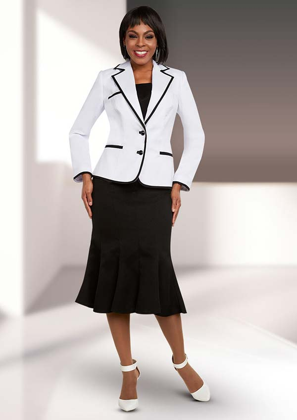 Ben Marc Executive 11661 Flared Skirt Suit With Notch Lapel Jacket