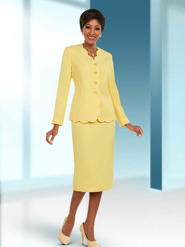 Ben Marc Executive 11662 Skirt Suit With Scallop Trimmed Jacket