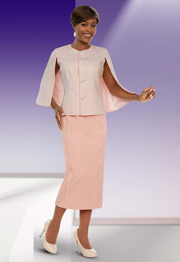 Ben Marc Executive 11664 Skirt Suit With Cape Style Jacket