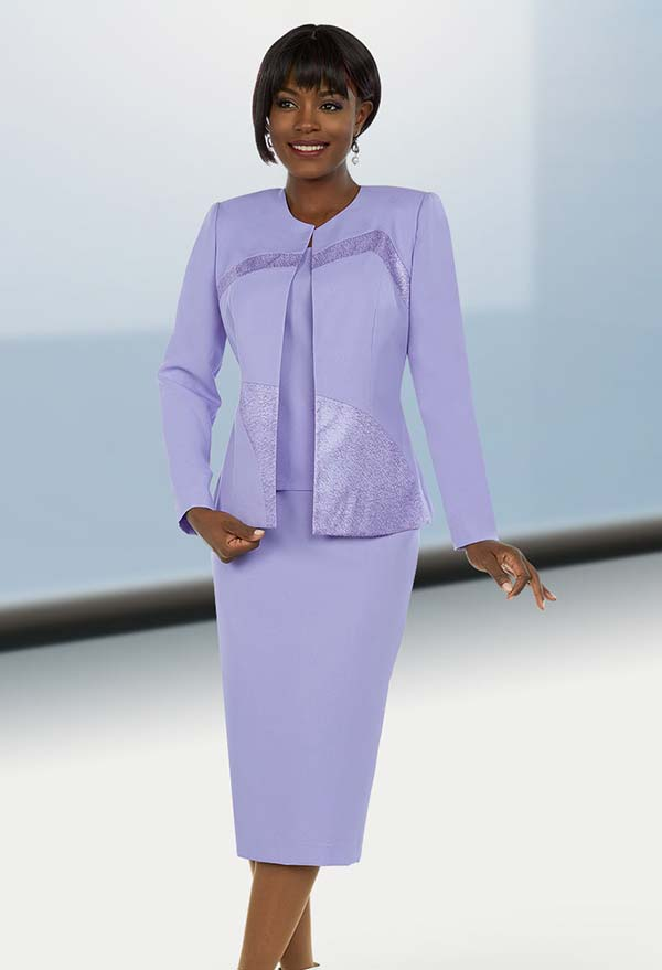Ben Marc Executive 11672 Skirt Suit With Brocade Style Insets On Jacket
