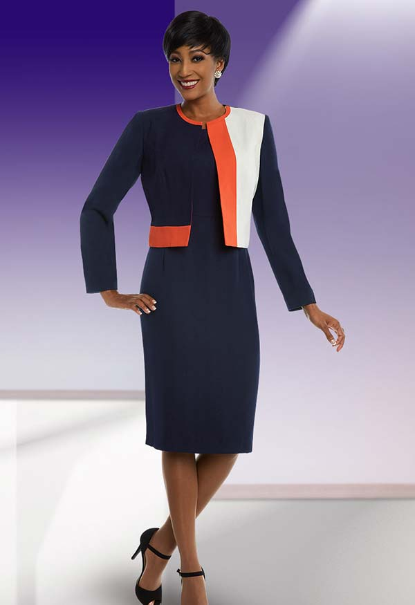 Ben Marc Executive 11679  Multi-Color Business Dress With Jacket
