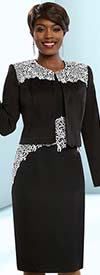 Clearance Ben Marc Executive 11681 Lace Applique Adorned Dress With Jacket