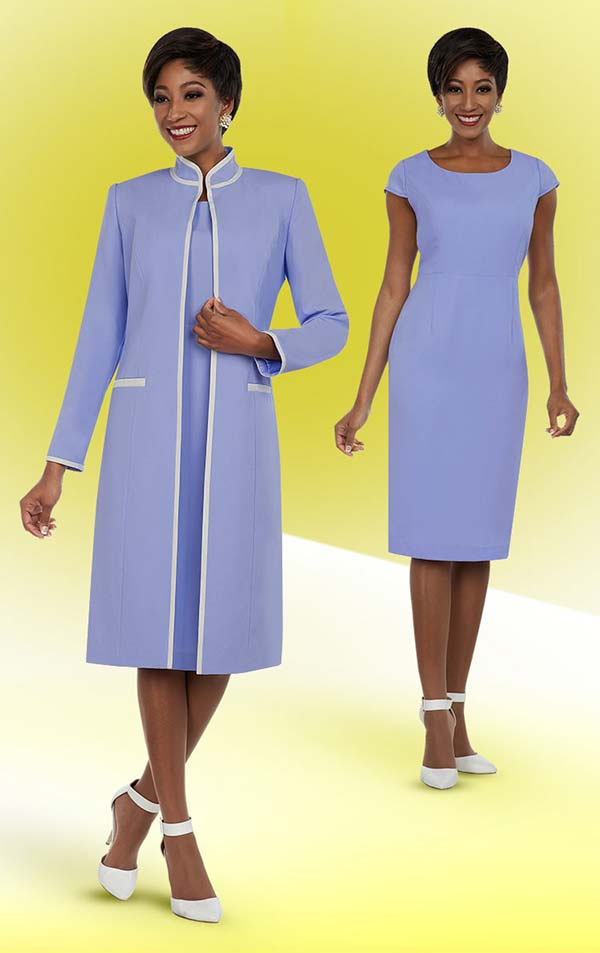 Ben Marc Executive 11694 Capsleeve Business Dress With Nehru Collar Duster Style Jacket