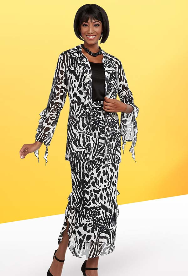Ben Marc Casual Elegance 18298 Skirt Suit With Animal Print Pattern