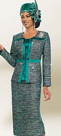 Ben Marc 47986 Womens Twill Church Suit With Subtle Floral Print