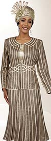 Ben Marc 48073 Womens Skirt Suit For Church With Embellished Piping