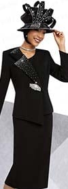 Ben Marc 48075 Embellished Skirt Suit For Church With Asymmetric Jacket