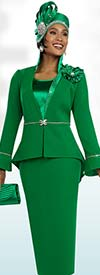 Ben Marc 48097 Three Piece Skirt Suit Ensemble In A Box Wlth Peplum Jacket & Stand-up Collar