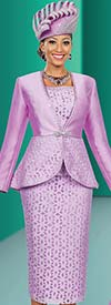 Ben Marc 48012 Ladies Three Piece Church Suit With Flounce Jacket
