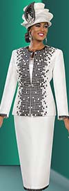 Ben Marc 48023 Womens Skirt Suit With Grid Design Jacket