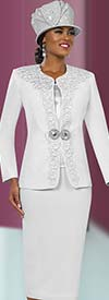 Ben Marc 48027 Womens Skirt Suit With Intricate Design Jacket