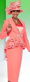 Ben Marc 48105 Womens Suit With Shawl Lapel & Cut-Out Peplum Jacket