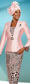 Ben Marc 48111 Womens Skirt Suit With Animal Print