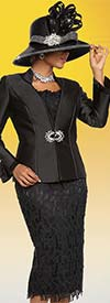 Ben Marc 48114 Womens Church Suit With Lace Skirt & Camisole Design