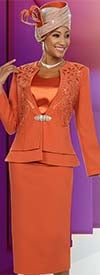 Ben Marc 48120 Womens Skirt Suit With Layered Peplum Design