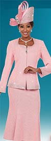 Ben Marc 48121 Womens Knit Skirt Suit With Sweetheart Neckline