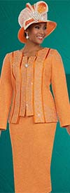 Ben Marc 48130 Womens Knit Skirt Suit With Piping Panel Design