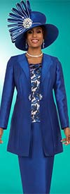 Ben Marc 48136 Womens Church Suit With Long Jacket & Floral Camisole
