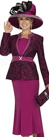 Champagne 4612 Womens Brocade Peach Skin Skirt Suit