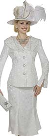 Champagne 4821 Womens Novelty Brocade Skirt Suit